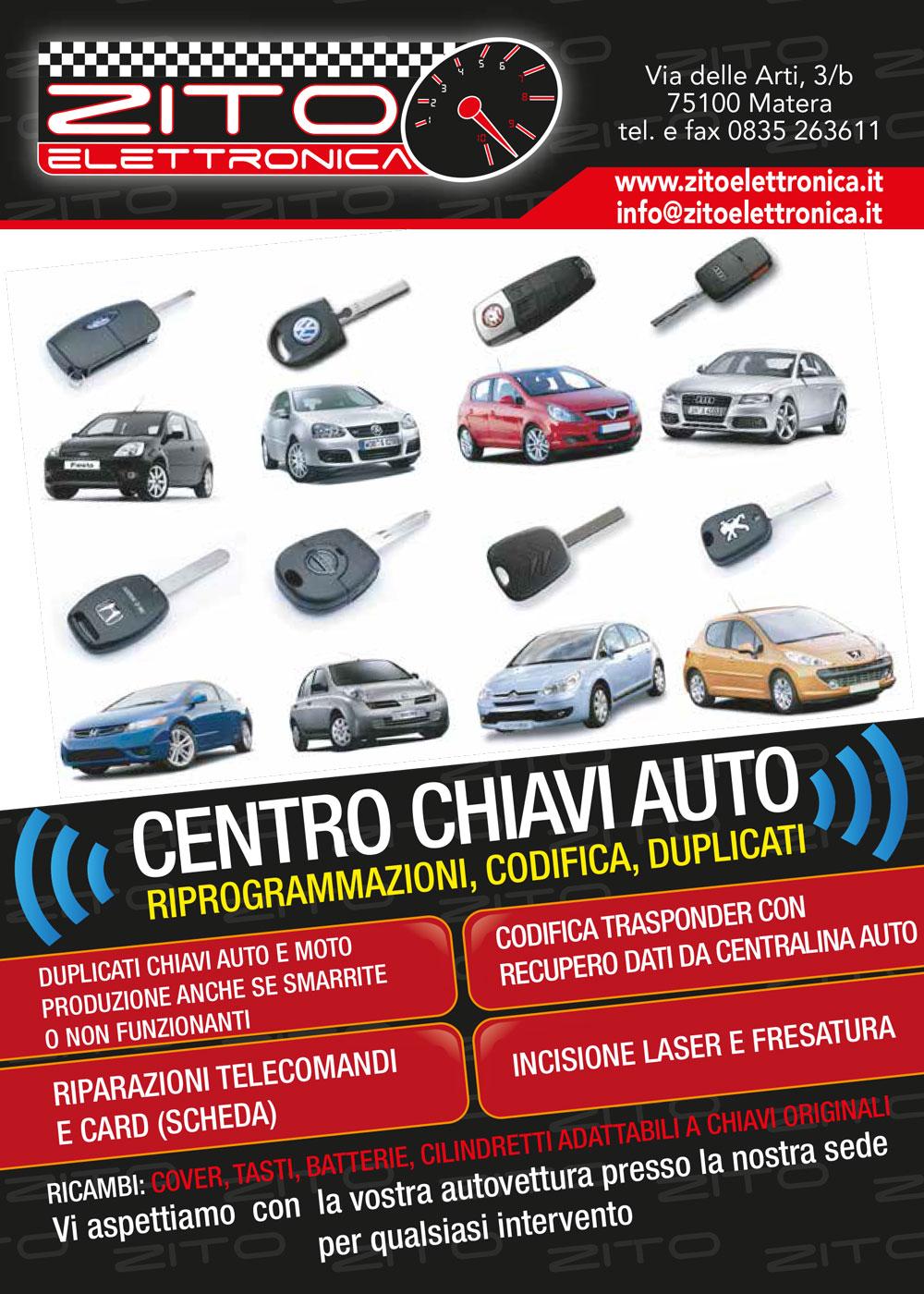 Zito elettronica riprogrammazione centraline su auto e for Posto auto coperto con officina annessa